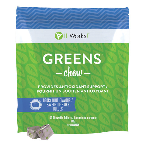 It Works Greens Chew - Antioxydant et fibre prébiotique